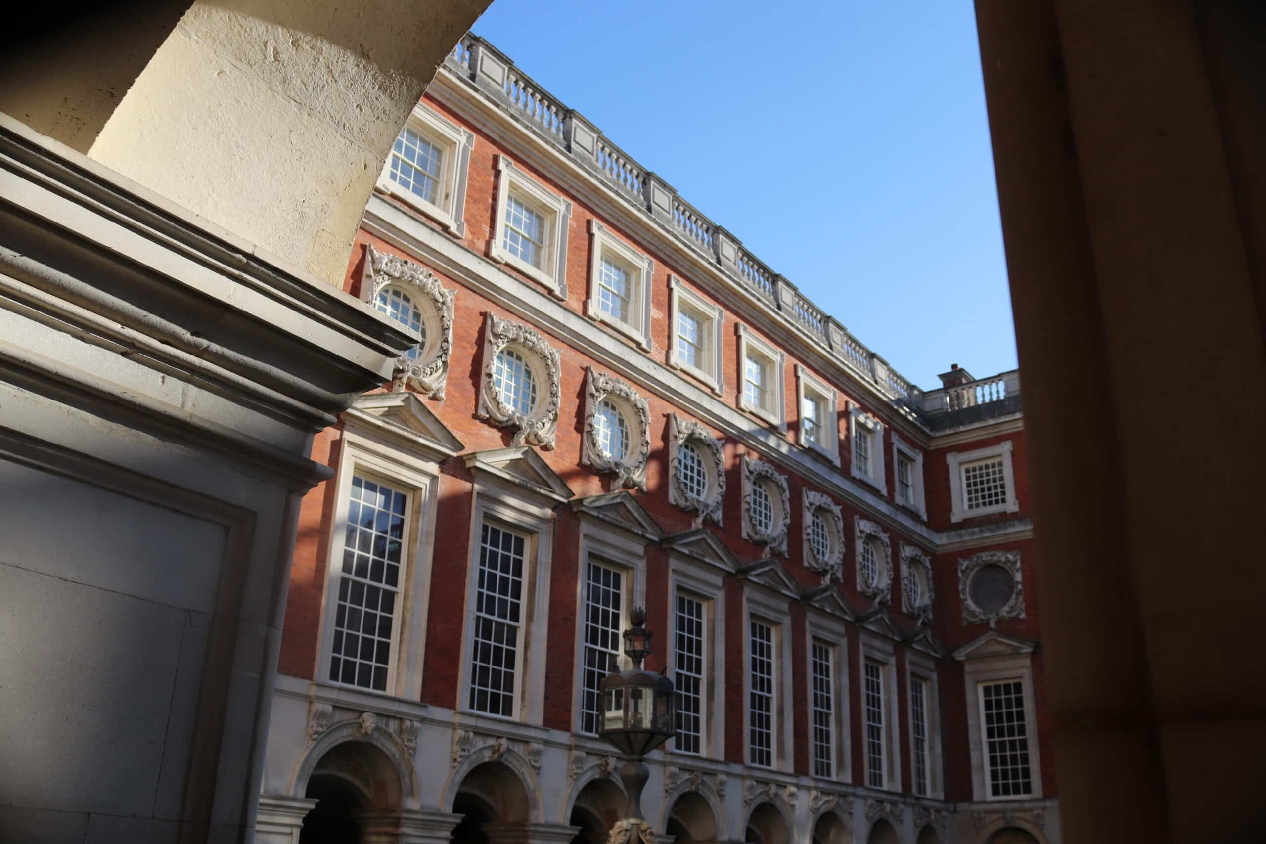 The Fountain Court at Hampton Court Palace, Designed by Sir Christopher Wren.