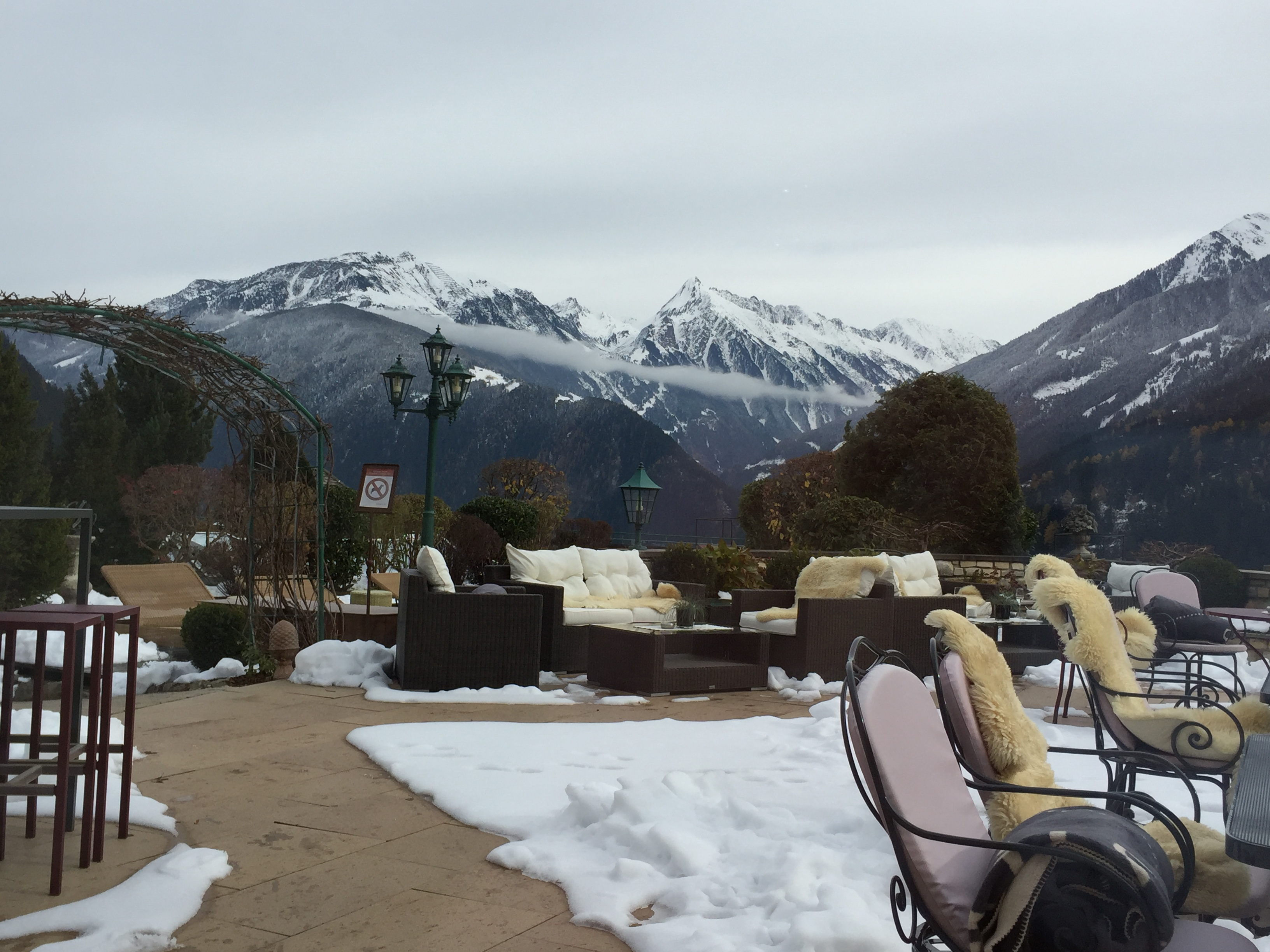 A view of the Austrian Alps in Zillertal