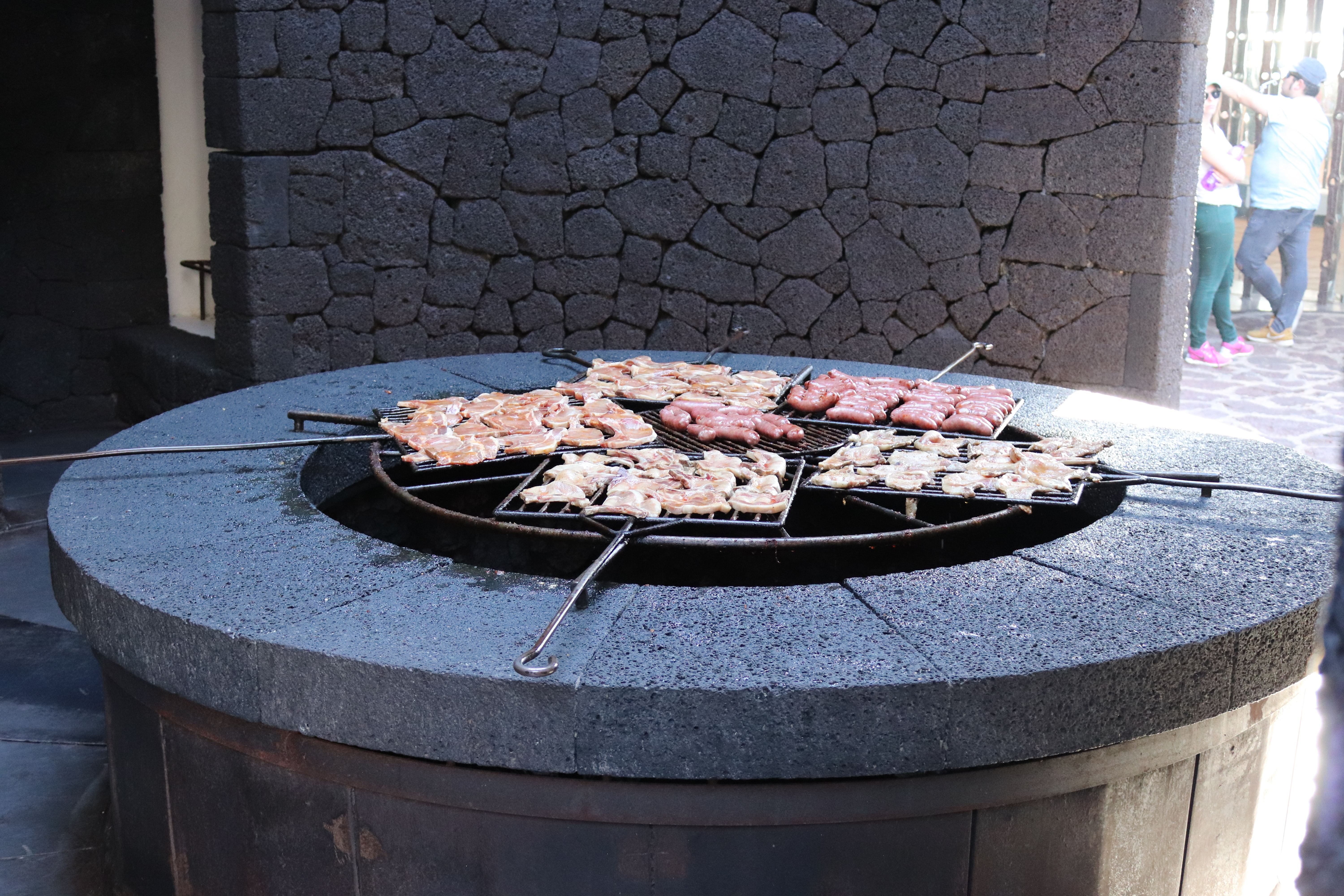 Discovering volcanic grilled chicken in Restaurant El Diablo, Lanzarote