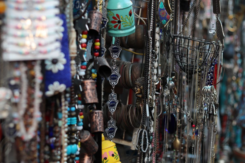 Jewelry for sale at Jaffa Flea Market