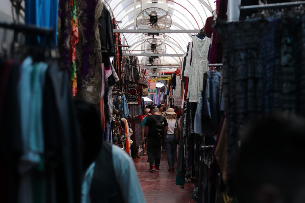 A crowded corridor at Jaffa Flea Market