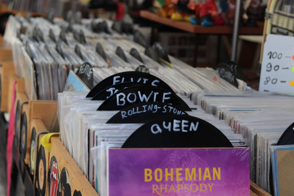 A more organised store selling vinyl records