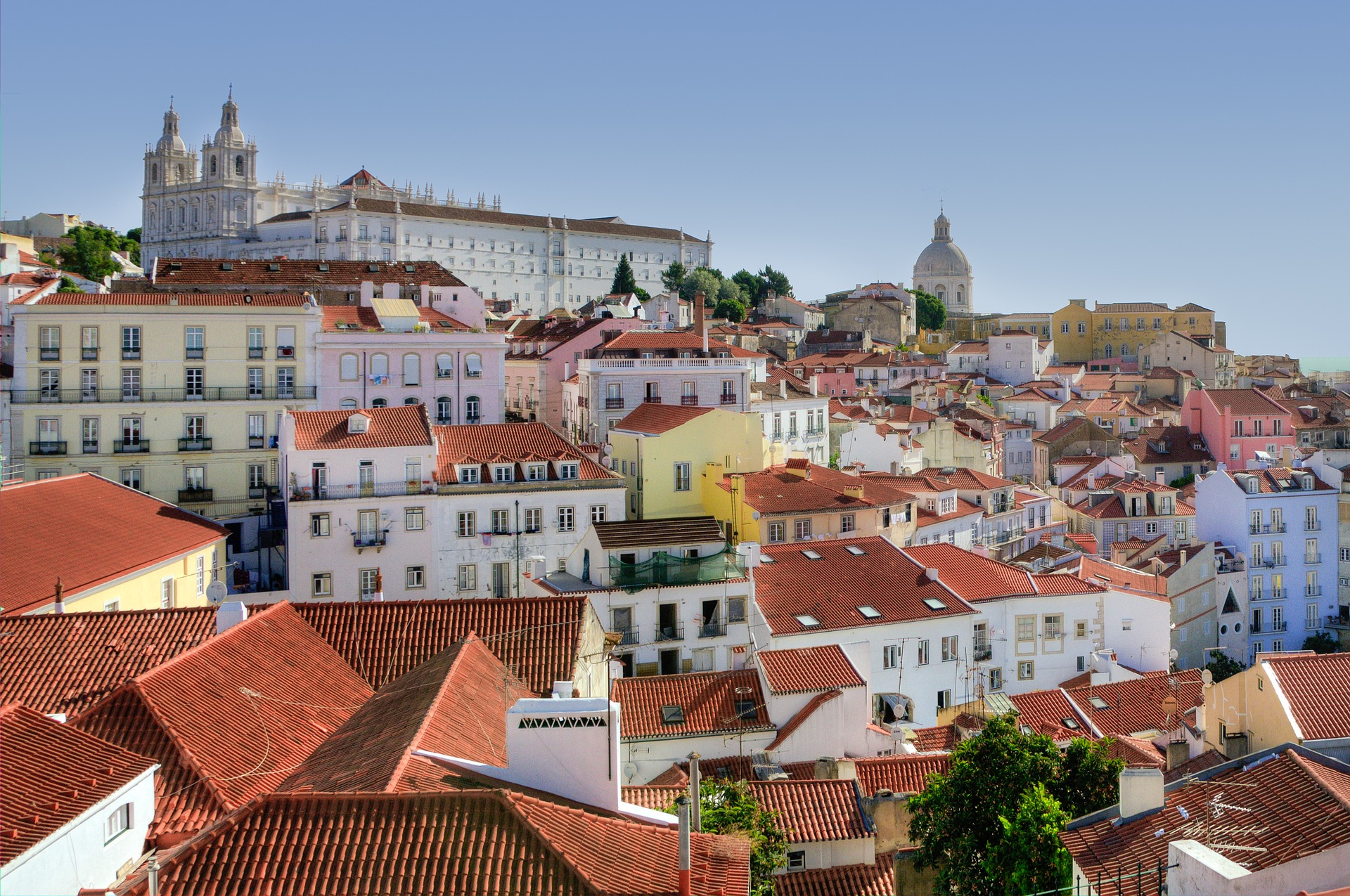 A view over the rooftops of Alfama, Lisbon