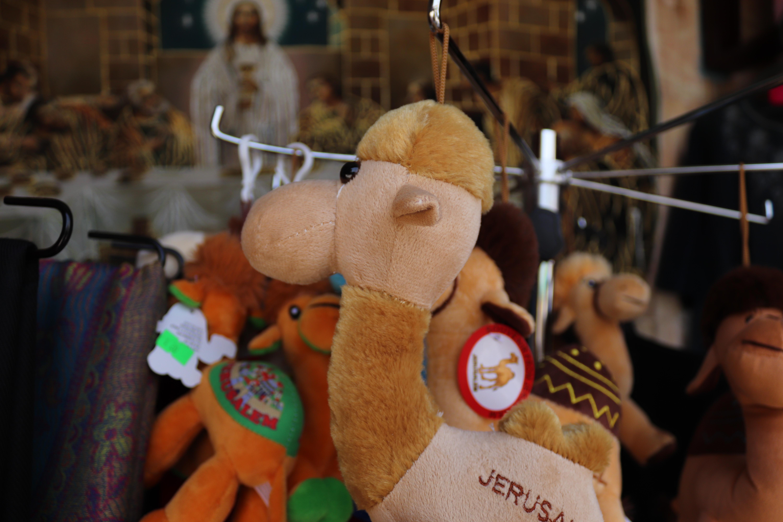 Jerualem branded camels for sale in the Christian Quarter