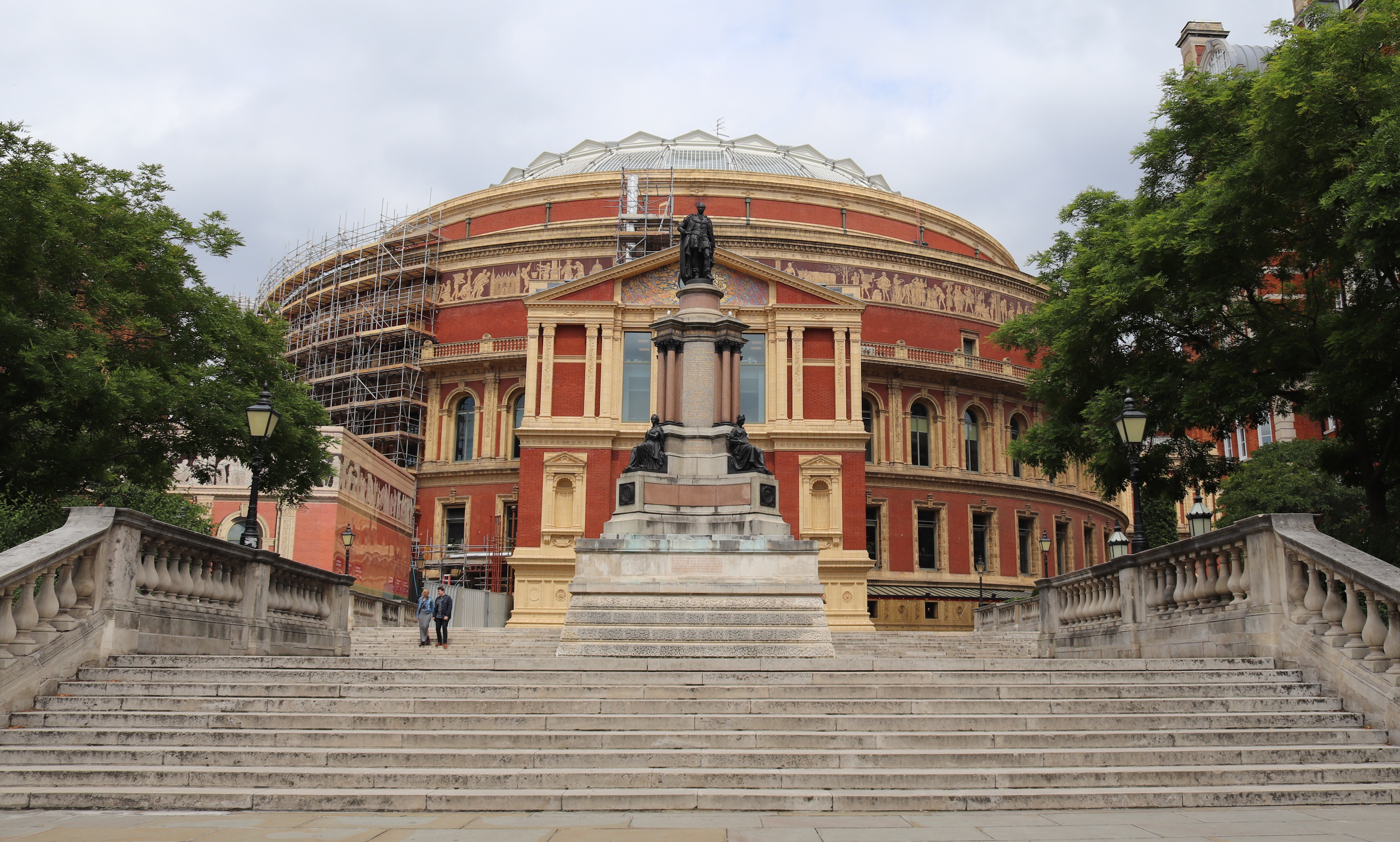 View of Royal Albert Hall from the Diamond Jubilee Steps