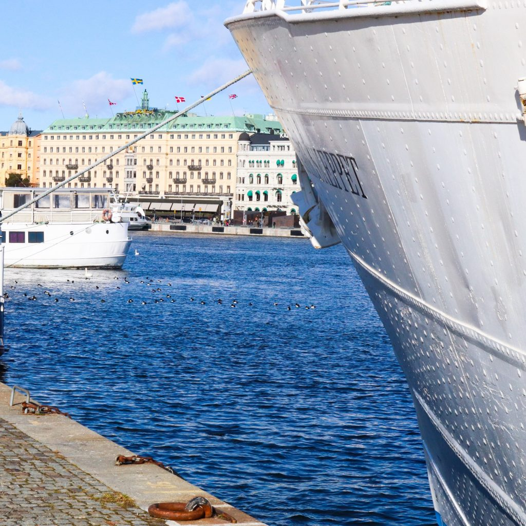 A view of the Grand Hotel Stockholm from the Gamla Stan