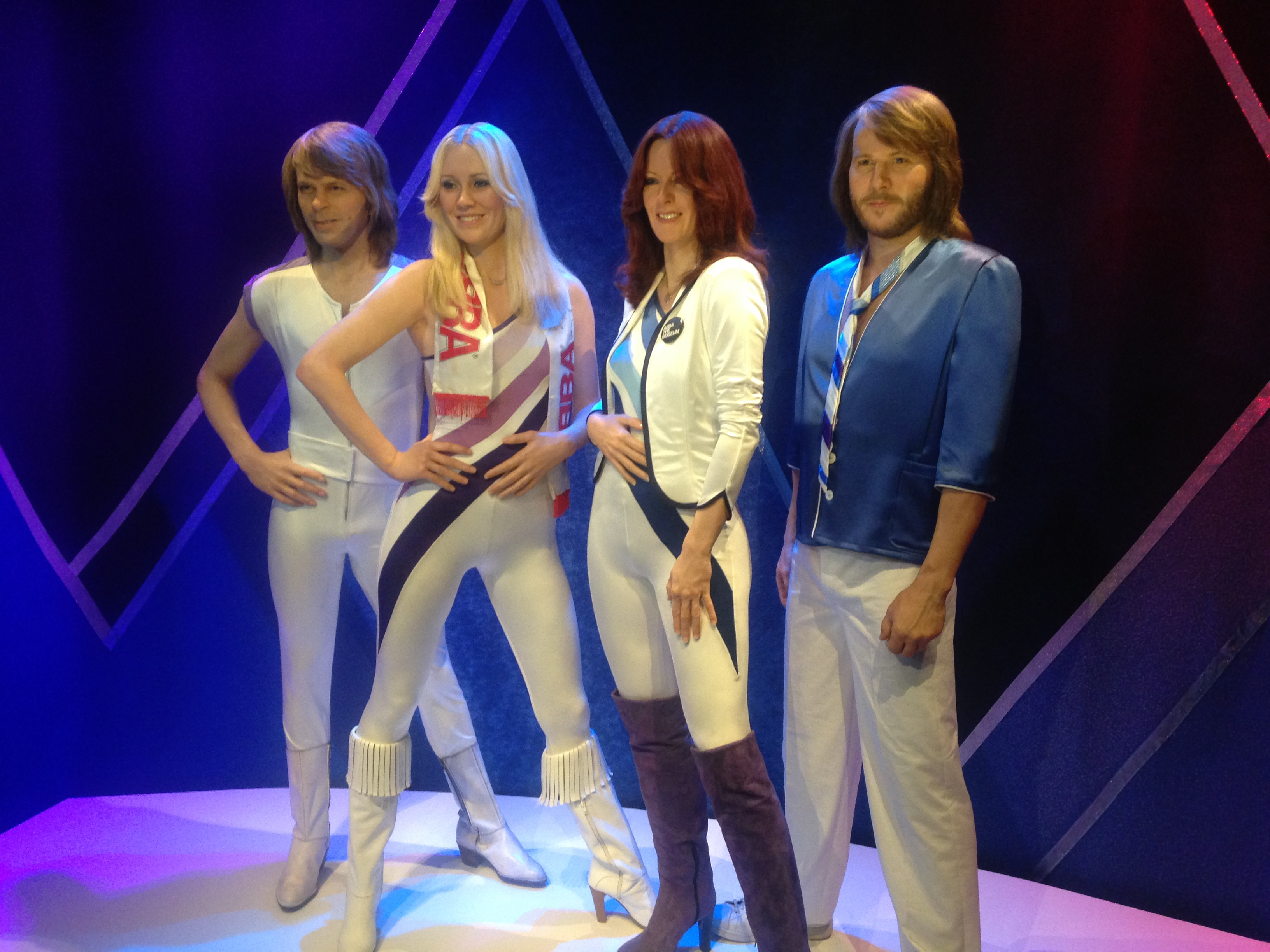 2 Days in Stockholm have to include a trip to the ABBA museum. Wax work of ABBA at the ABBA Museum, Stockholm