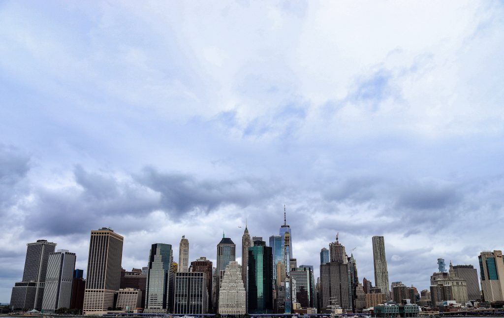 A view of lower Manhattan from Brooklyn Heights