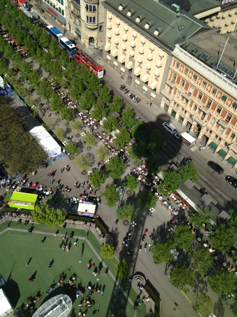 Kungstradgarden is a public green space in Stockholm which is a popular spot for coffee.