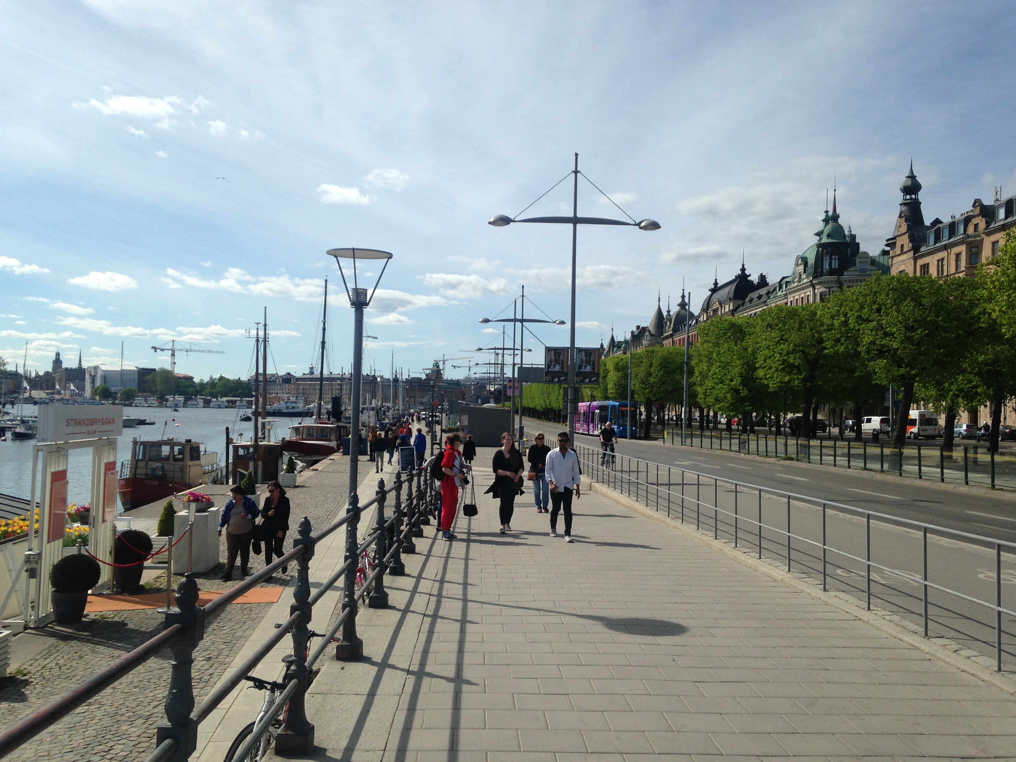 Strandvägen is a scenic waterside walk and one of Stockholm's most prestigious addresses.