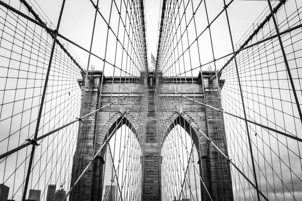 Brooklyn Bridge in Grayscale