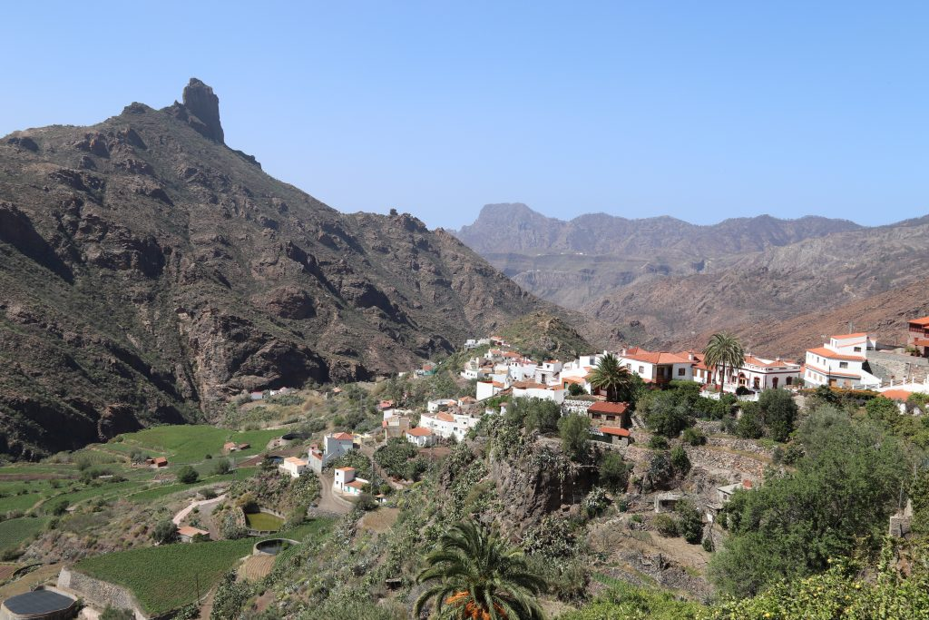 A view of Tejeda in the mountains of Gran Canaria.
