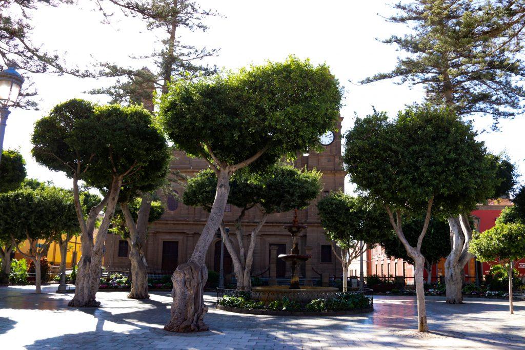 Plaza Santiago is the main public square in Galdar.