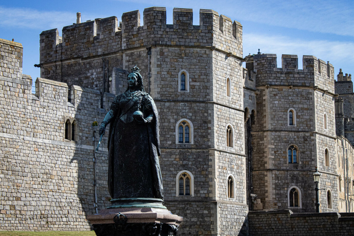 This statue of Queen Victoria guards the outer entrance to Windsor Castle. She was one of Windsor's most famous resident although was said to have much preferred being at Balmoral.