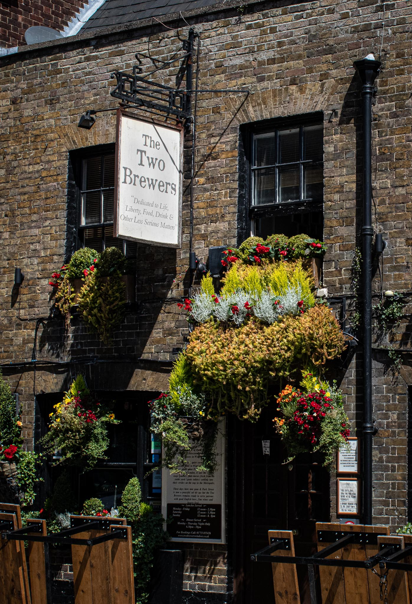 The Two Brewers is the town's oldest public houses and is a great place for grabbing a drink. It's just outside the castle.
