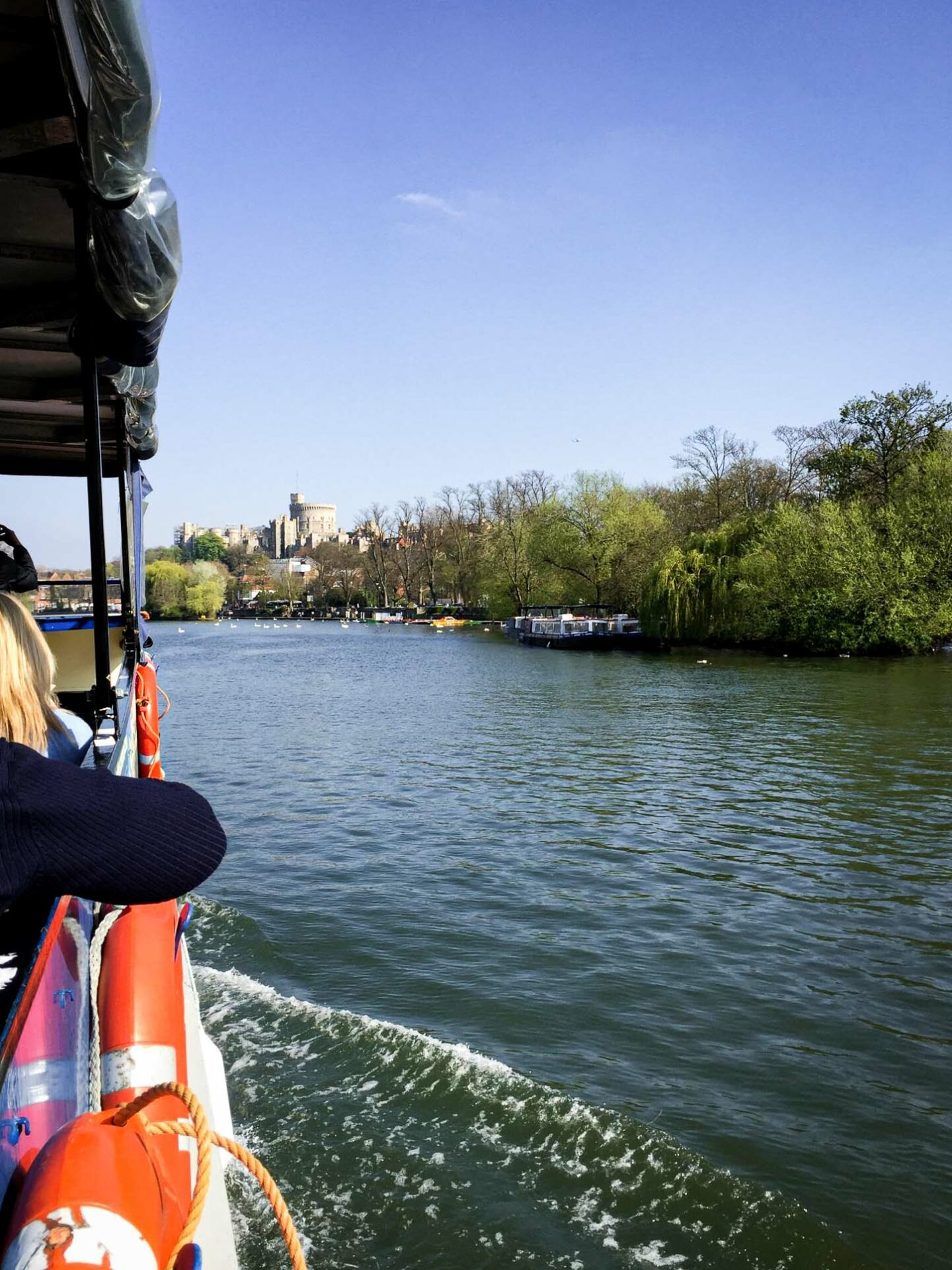 Windsor Boat trips along the River Thames are great alternative way of seeing the town. There are some great views of the castle from here.