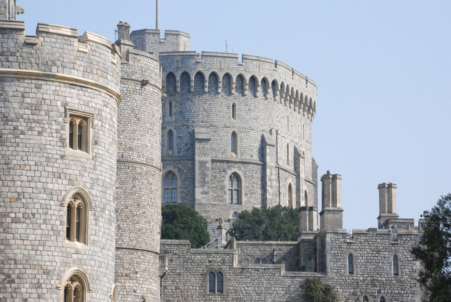 Windsor Castle towers and turrets