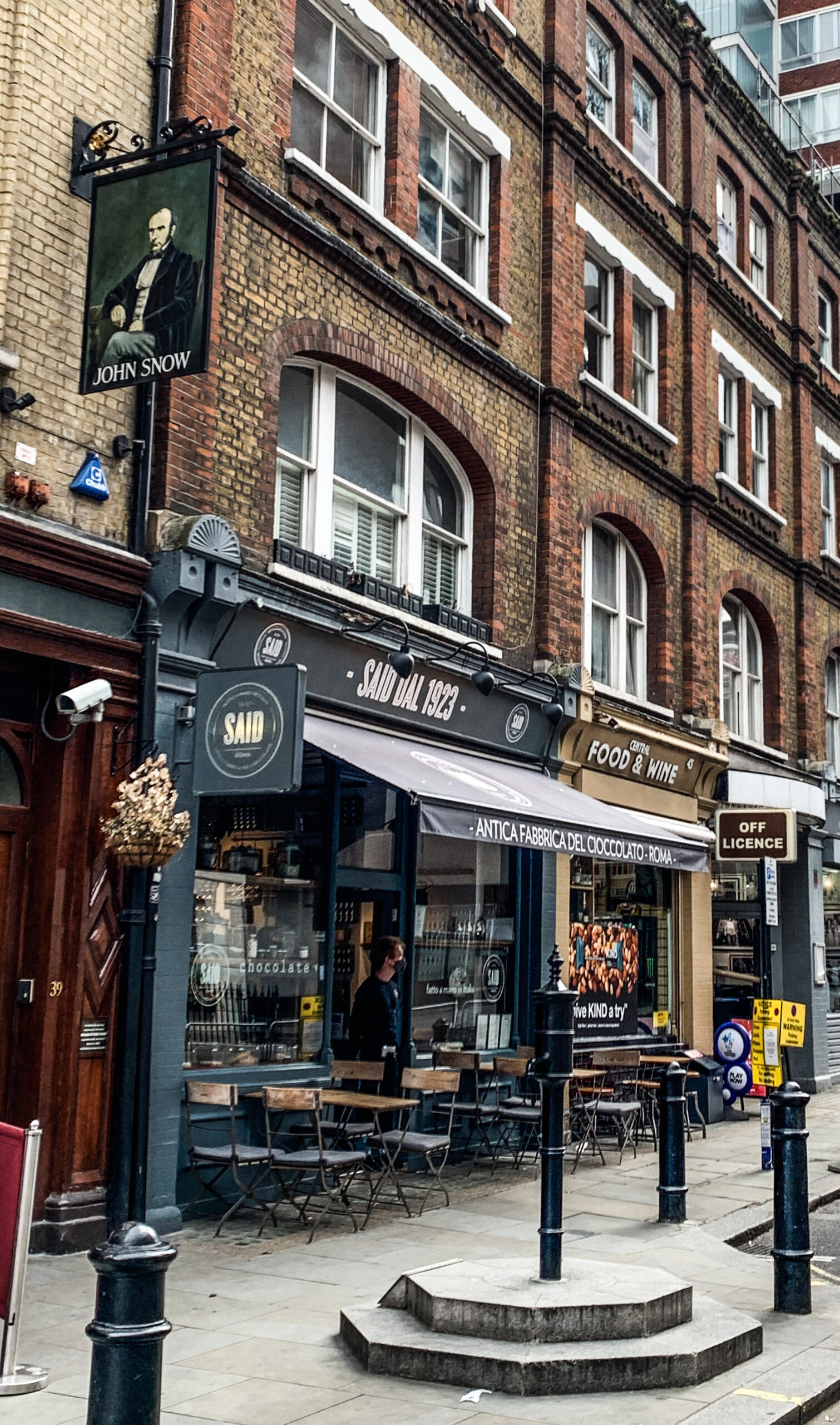The John Snow Pub and the infamous tap in Soho - responsible for a Cholera outbreak in 1854.