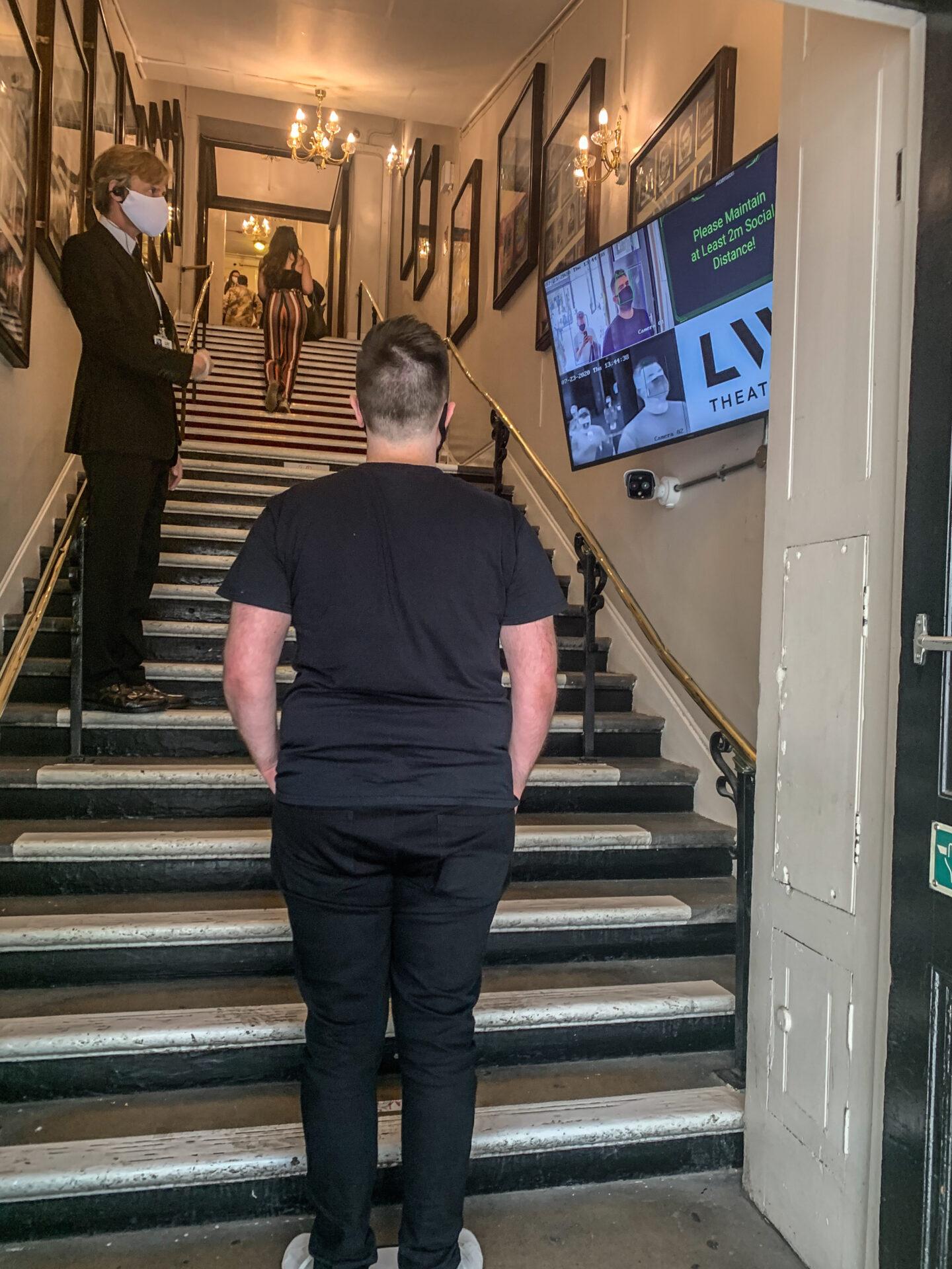 Temperature checks at the theatre doors
