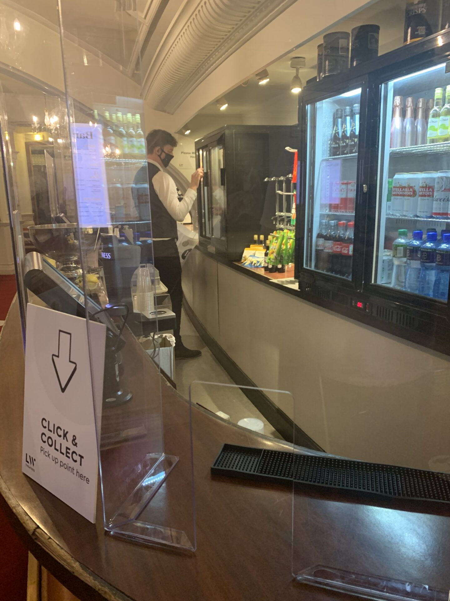 Click and collect refreshments - socially distanced theatre