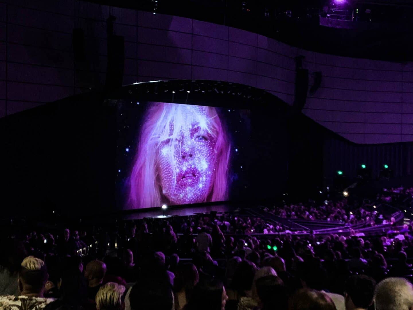 Attending a concert by Christina Aguilera in the Planet Hollywood Hotel.