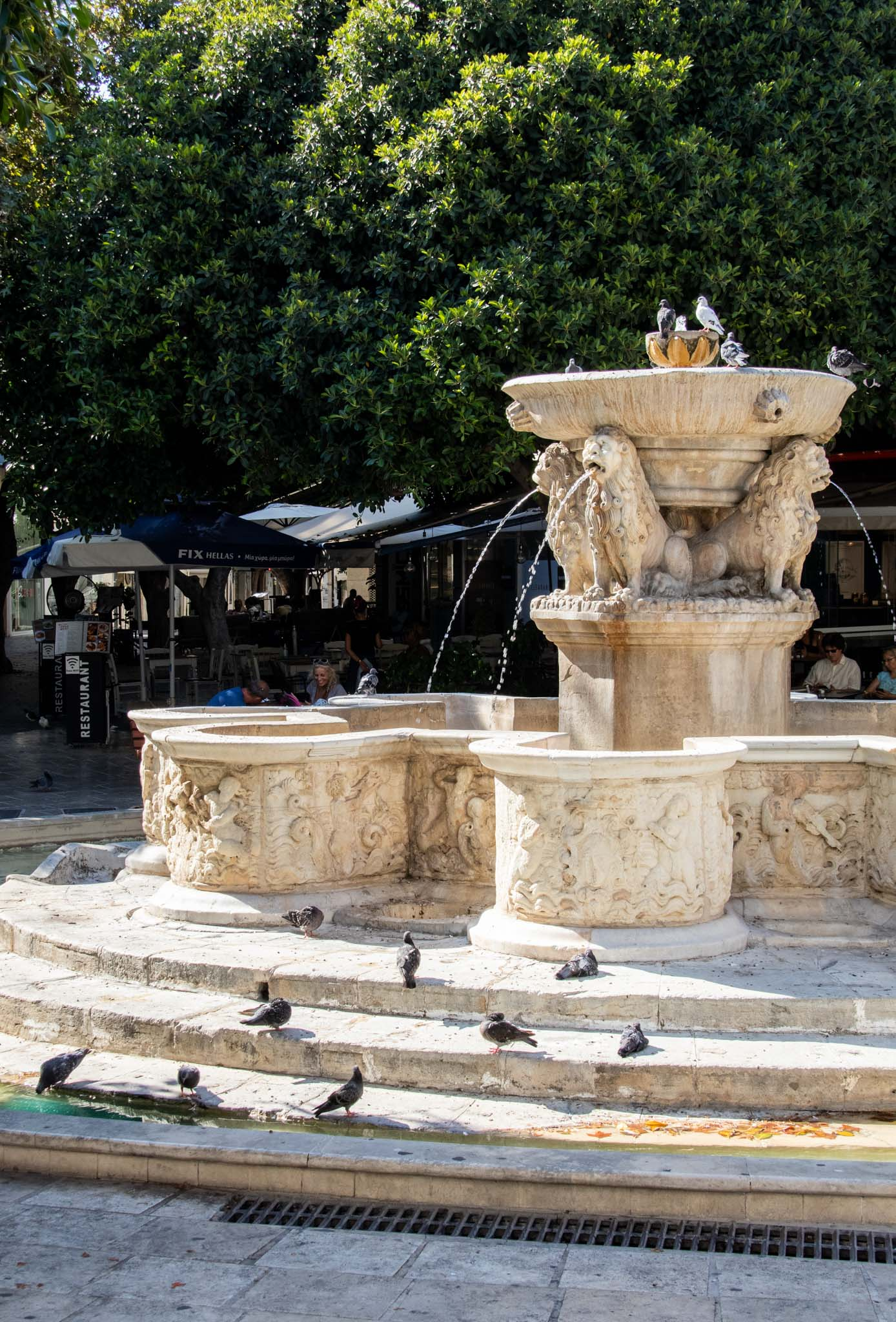 The Morosini Lion Square is Heraklion's most popular meeting place.