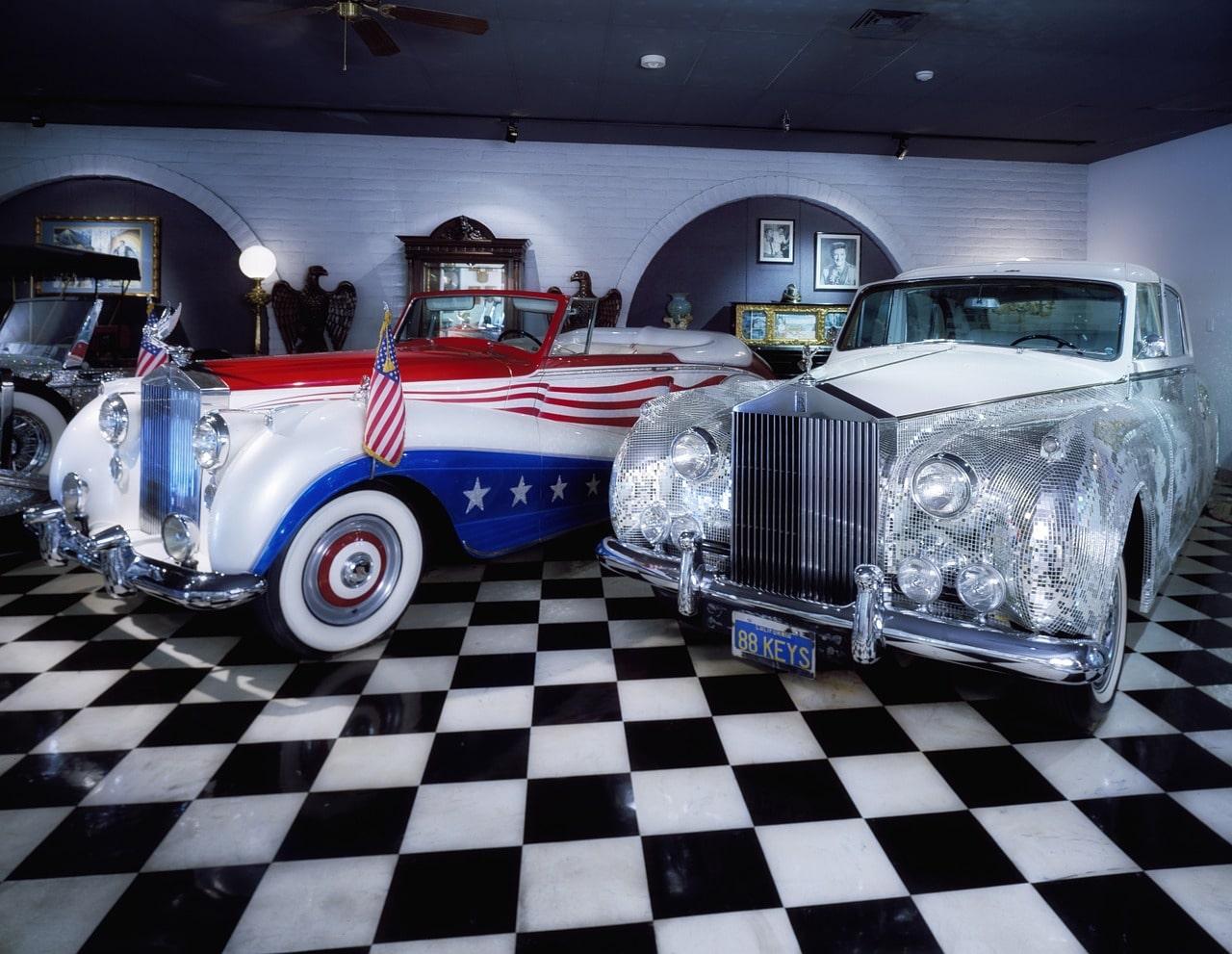 Beautiful cars at the Liberace Museum