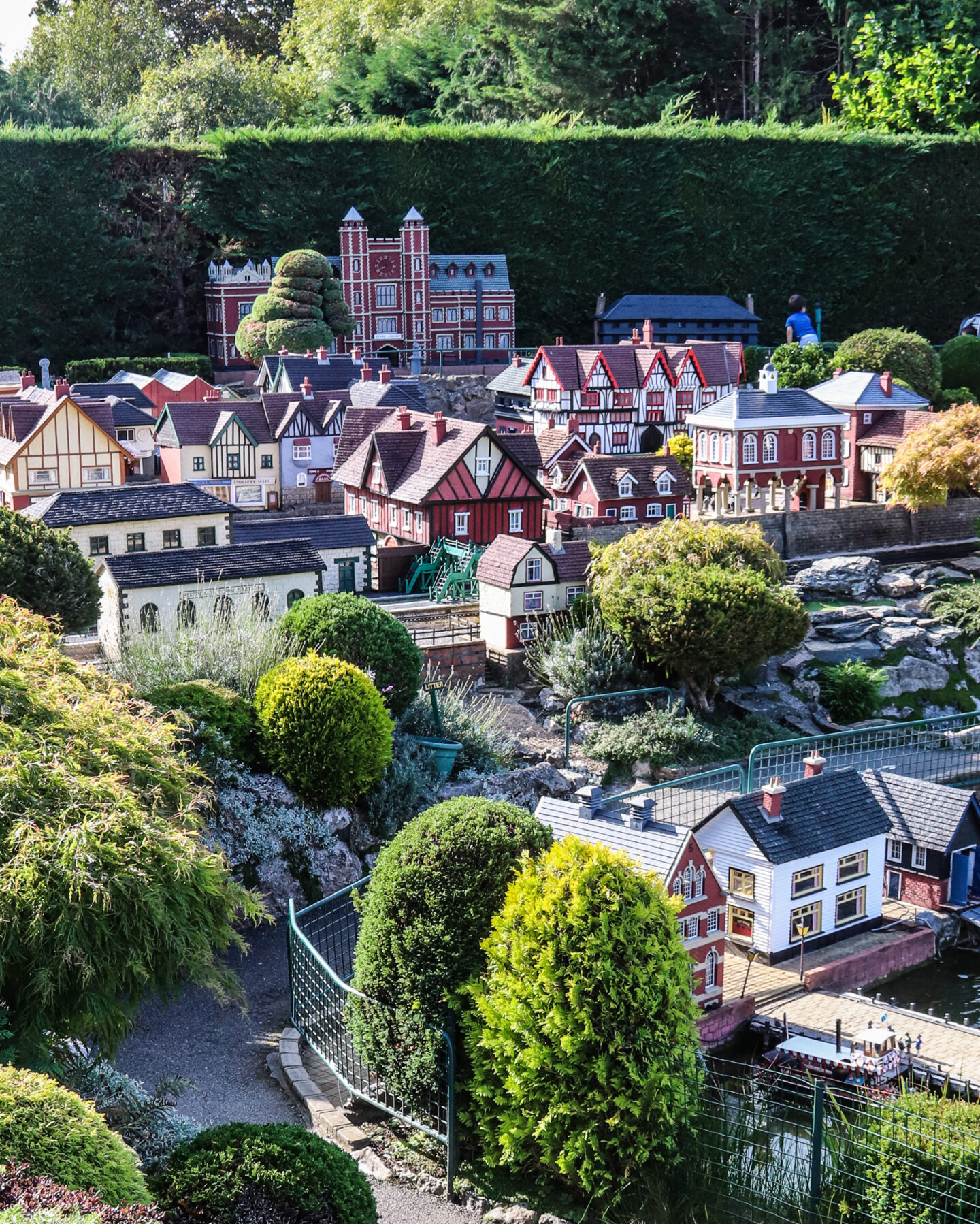 The oldest sections of the model village are close the entrance. Other parts are more recent additions to the park.