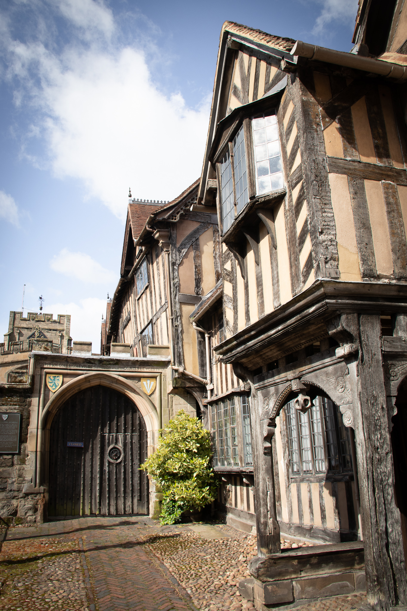 The Lord Leycester Hospital is one of the oldest buildings in Warwick. It's know as being one of the best examples of medieval courtyard architecture.