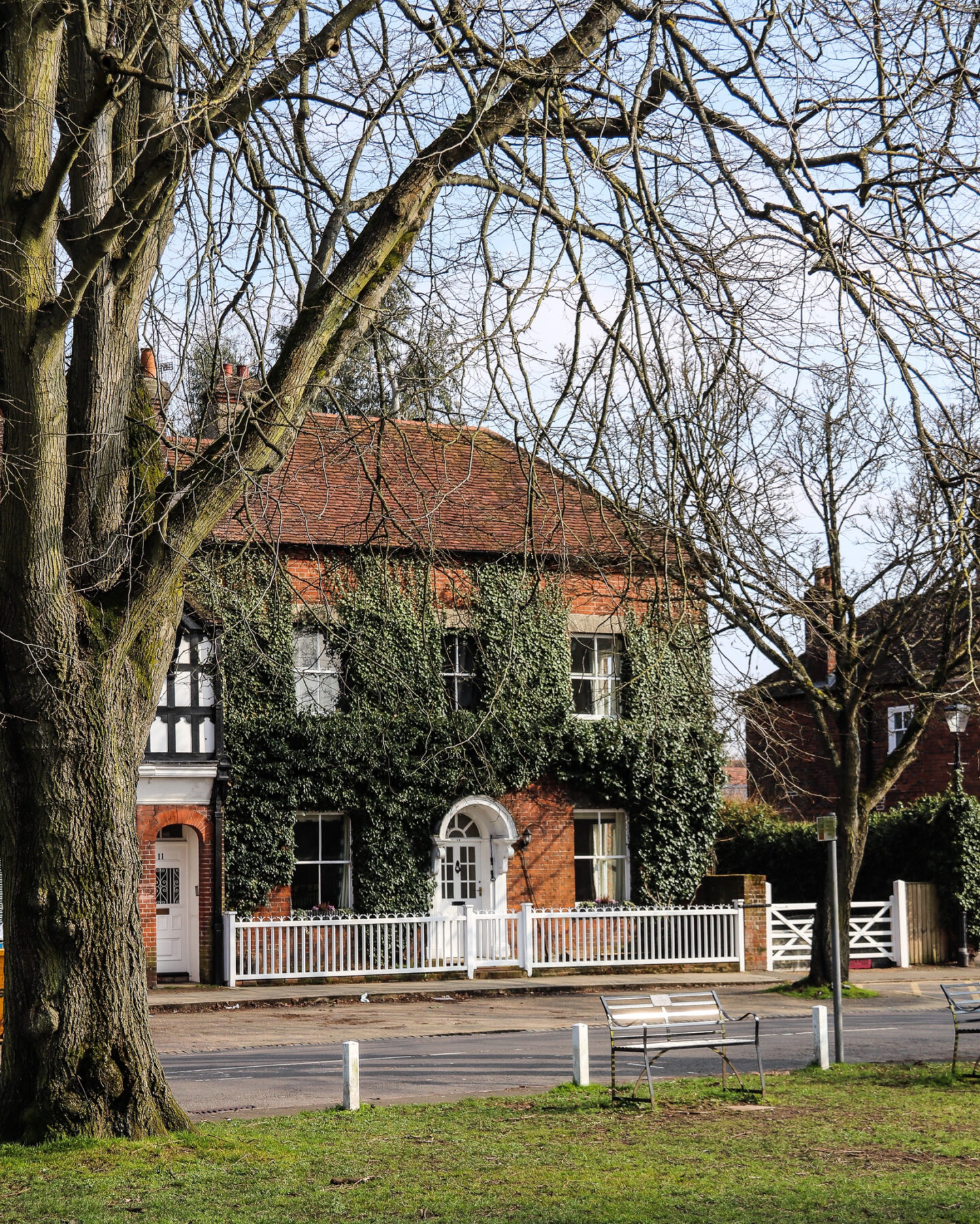 One of the pretty houses in the village square of Beaconsfield Old Town