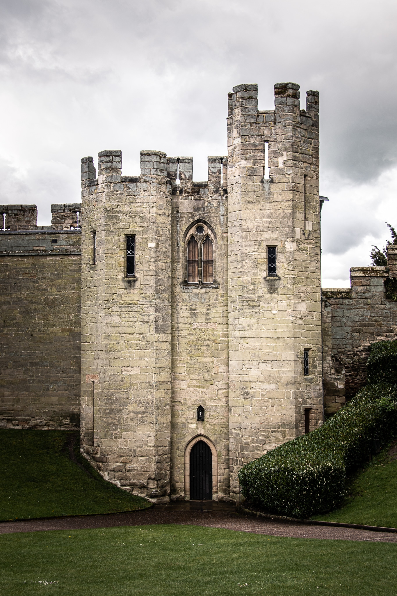 A view of the Watergate Tower or the Ghost Tower. It's said to be the most haunted tower in Warwick Castle