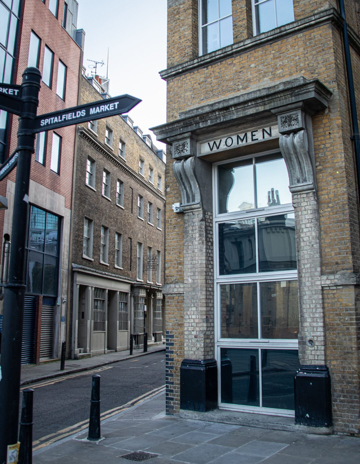 There's a converted workhouse on Crispin Lane near Spitalfields market. Today it is student accommodation. The signs for 'men' and 'women ' above the doorways are the only indication of the building's past. It's believed that Mary Jane Kelly, the final victim of Jack The Ripper, stayed here before her death.